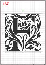 Beautiful Alphabet Letter F Stencil MYLAR A4 sheet strong reusable Craft ArtDeco