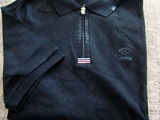 Zip Poloshirt PAUL & SHARK Kurzarm im Schwarz/ Gr.2XL