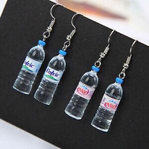 Novelty Drink Water Bottle Earrings Bar Dangle Ear Hook Earrings Jewelry Gift