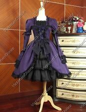 Victorian Gothic Lolita Dress Gown Steampunk Cosplay Reenactment Wear N 233 L