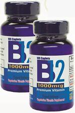 Vitamina B12 de alta potencia, 1000mcg, set de 2 frascos con 100 tabletas c/u.