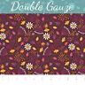 Enchanted Seed Pods in Bordeaux Double Gauze Camelot Cotton fabric by the yard