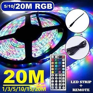 RGB LED Stripe 3528 SMD Leiste Streifen Band Licht Leuchte Lichterkette 1-20m