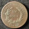 Canada 1836 Half Penny Token Un Sous LC-3A3 / Breton 714 / J-036