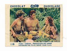 1943 TARZAN TRIUMPHS NAZIS Chocolat Coop Movie Card JANE, BOY Johnny Weissmuller