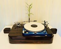 THORENS TD 124 TWIN TONEARM Piano Makassar Plinth (without turntable) In Stock!