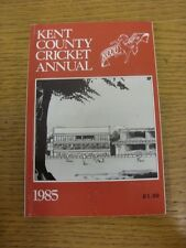 1985 Cricket: Kent County Cricket Club - Official Year Book. Any faults with thi