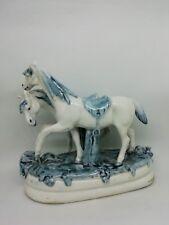 2 chevaux en céramique émaillée 1925 numérotés 966