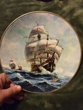 Under Full Sail Collector's Plate (Columbus Discovers America: The 500th Anniv