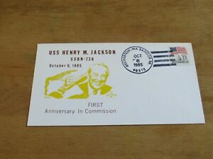 US Navy cover USS Henry M Jackson SSN 730 NUCLEAR SUBMARINE FREE SHIPPING USA