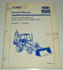 """Ford 455D 555D 575D 655D 675D Tractor Loader Backhoe """"ENGINE"""" Service Manual"""