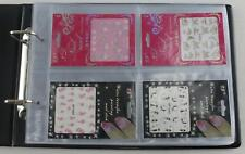 Nail Art supplies folder album Clear pages Display storage for stickers stencils