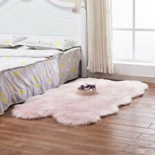 Plush Faux Wool Soft Fur Floor Rug Warm Seat Mat Chair Cover Hairy Carpet Pink