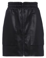 French Connection Black Zip Front Mini Skirt Size 12 BNWT RRP £75