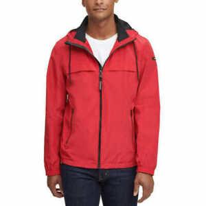 NWT Calvin Klein Men's Logo Windbreaker Jacket Red SZ SMALL
