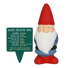Red Terracotta Garden Gnome Novelty Weather Forecasting Plant Pot Plaque 15cm