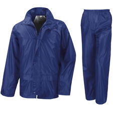 Mens Waterproof Suit Jacket & Trouser Bottom Rain Set Womens Adults  Mens Size
