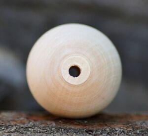 Holzkugel gebohrt 45 mm Buchen Holz massiv Kugel Basteln unbehandelt Kugeln
