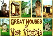Great Outhouses of West Virginia Postcard Fridge Magnet