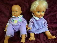 Lot of 2 Zapf Hasbro 1998 babydolls Reborn Newborn Purple Outfits Cute