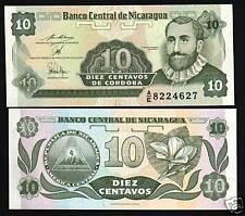 NICARAGUA 10 CENTAVOS P169 1991 BUNDLE CORDOBA FLOWER UNC 1,000 PCS LOT BANKNOTE