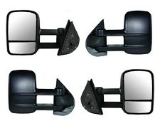 2007-2013 Chevrolet Silverado 1500 2500 3500 HD Manual Side Mirror PAIR NEW