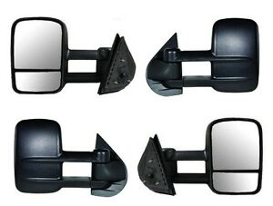 2008 2009 2010 Chevrolet Silverado 1500 2500 3500 HD Manual Side Mirror PAIR NEW