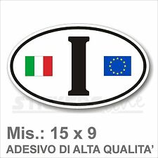 Adesivo I ITALIA I di Identificazione Nazione Residenza per Auto + logo europa
