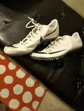 new white Nike Zoom 400 Track Sprint Spike cleats Mens 9 AA1205
