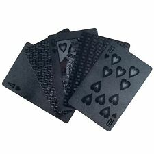 100% Plastic Black Bridge Sized Playing Cards USA Seller in Plastic Case