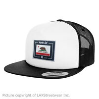HURLEY Cali Trucker Snapback hat cap surf adjustable white black - SAME DAY SHIP