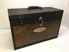 Vintage Craftsman Machinists Tool Box 7 Drawer Storage Case Chest Metal Modified