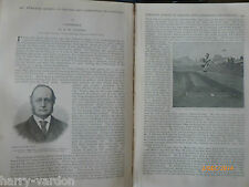 Athletics Sport Oxford Cambridge University Old Victorian Article 1891 Monypenny