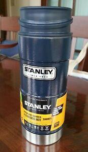NEW - hard to find - Stanley Classic 12oz One Hand Vacuum Mug - Hammertone Navy+