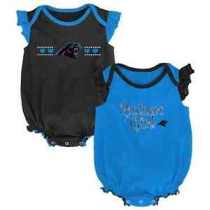 Carolina Panthers NFL Baby Girl Homecoming Bodysuit Set, Size 0/3 Mo - NWT