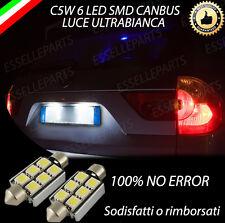 COPPIA LUCI TARGA A LED BMW X3 CANBUS NUOVO MODELLO A 6 LED 100% NO AVARIA