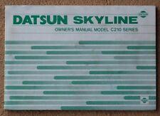 NISSAN SKYLINE C210 OEM 1978 Coupe Sedan Owners Manual Service Book GC210 GT-EX