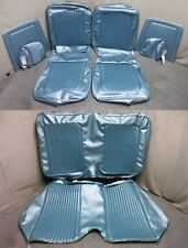 69 Mustang Coupe Standard Front Bucket Seat Rear Upholstery Reproduction Blue