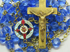 """†  HTF VINTAGE UNIQUE ENAMELED """"CRUSADE OF IMMACULATE HEARY MARY"""" IHM ROSARY †"""