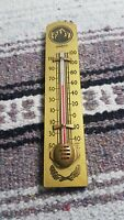 Vintage Ohio Thermometer wood Advertising 1940 Made in USA Gold Paint