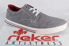 Rieker Men's, Sneakers Low Shoes Textile Grey New
