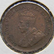 CANADA, George V: 1934 bronze Cent; brown XF with mint error