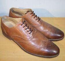 Cole Haan Grand OS Wingtip Dress Shoes British Tan Cambridge Oxfords Men's 13 M