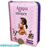BIBLIA REINA VALERA 1960 PARA NINAS, AMIGOS POR SIEMPRE,  con CIERRE