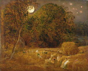 Samuel Palmer The Harvest Moon Giclee Art Paper Print Poster Reproduction