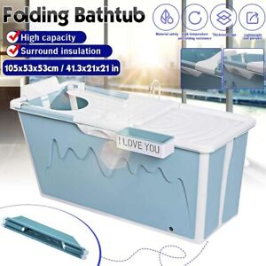Portable Shower Bathtub Seat Collapsible Household Adult Large Folding Green Tub
