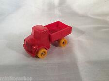 Viking Plast no. 115 Truck Lorry Plastik Vinyl Gummi Model Auto Sweden (Red)