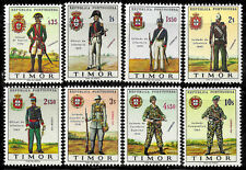 Timor #325-332, MNH -1967- Military Uniforms - Complete Set - CV=9.05