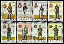 Timor #325-332, MNH -1967- Military Uniforms - Complete Set - CV=9.05