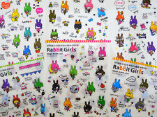 6 pages Korean Rabbit Girl stickers! kawaii stickers planner stickers cute bunny
